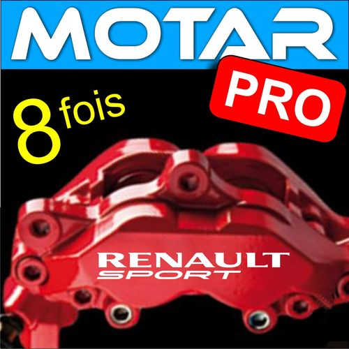 8 STICKERS RENAULT Sport 95mm x 13mm