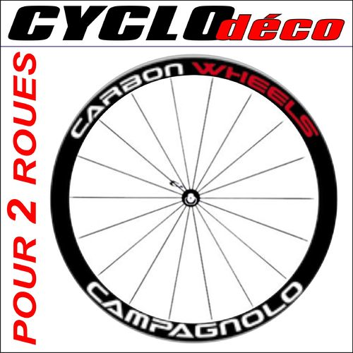 STICKERS CAMPAGNOLO CARBON WEELS sur mesure